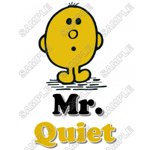 Mr Men and Little Miss Mr. Quiet T Shirt Iron on Transfer Decal #22 by www.shopironons.com