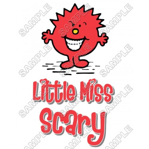 Mr Men and Little Miss Scary T Shirt Iron on Transfer Decal #50 by www.shopironons.com