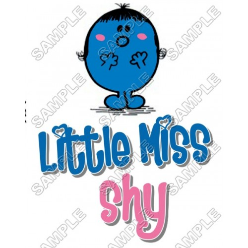 Mr Men and Little Miss Shy T Shirt Iron on Transfer Decal #43 by www.shopironons.com