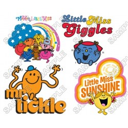 Mr Men and Little Miss T Shirt Iron on Transfer Decal #1