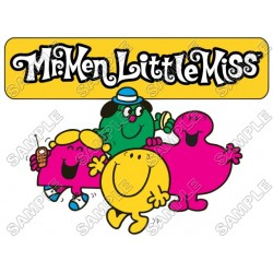 Mr Men and Little Miss T Shirt Iron on Transfer Decal #13