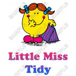 Mr Men and Little Miss Tidy T Shirt Iron on Transfer Decal #44