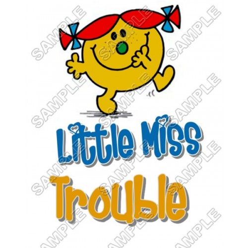 Mr Men and Little Miss Trouble T Shirt Iron on Transfer Decal #45 by www.shopironons.com