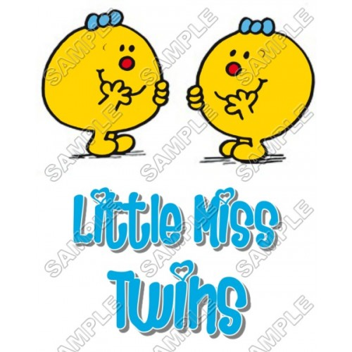 Mr Men and Little Miss Twins T Shirt Iron on Transfer Decal #46 by www.shopironons.com