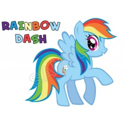 My Little Pony Rainbow Dash T Shirt Iron on Transfer Decal #1