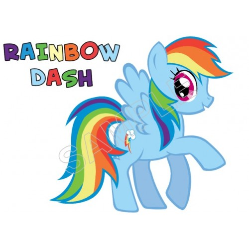 My Little Pony Rainbow Dash T Shirt Iron On Transfer Decal 1 By