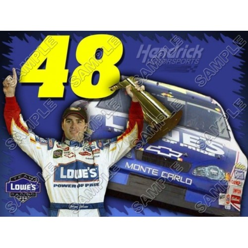 NASCAR Jimmie Johnson T Shirt Iron on Transfer Decal #1 by www.shopironons.com
