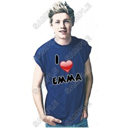 One Direction Niall Horon Personalized Custom T Shirt Iron on Transfer Decal #39
