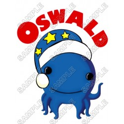 Oswald the Octopus Christmas Santa T Shirt Iron on Transfer Decal #3