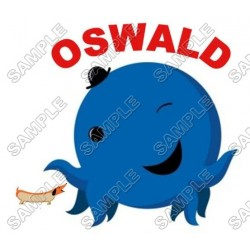 Oswald the Octopus T Shirt Iron on Transfer Decal #1