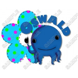 Oswald the Octopus T Shirt Iron on Transfer Decal #2