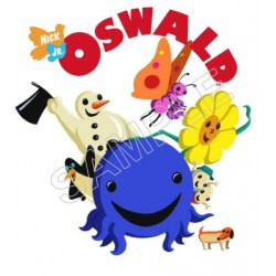 Oswald the Octopus T Shirt Iron on Transfer Decal #5