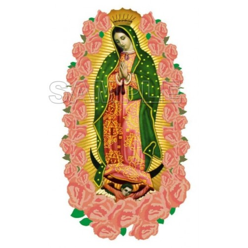Our Lady of Guadalupe T Shirt Iron on Transfer Decal #3 by www.shopironons.com