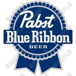 Pabst Blue Ribbon T Shirt Iron on Transfer Decal #1