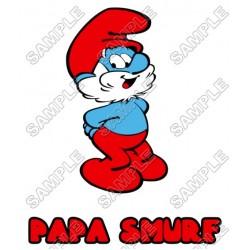 Papa Smurf T Shirt Iron on Transfer Decal #8
