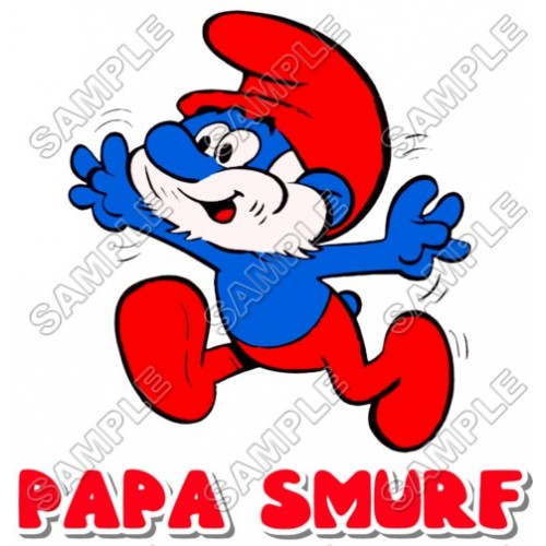 Papa Smurf T Shirt Iron on Transfer Decal #9 by www.shopironons.com