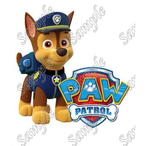 PAW Patrol Chase T Shirt Iron on Transfer Decal #87 by www.shopironons.com