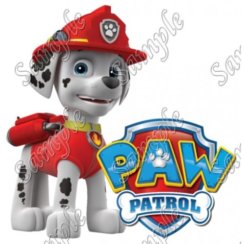 PAW Patrol Marshall T Shirt Iron on Transfer Decal #84 by www.shopironons.com
