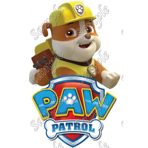 PAW Patrol Rubble T Shirt Iron on Transfer Decal #83 by www.shopironons.com
