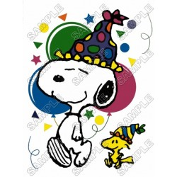 Peanuts, Snoopy, Charlie Brown Birthday T Shirt Iron on Transfer Decal #2