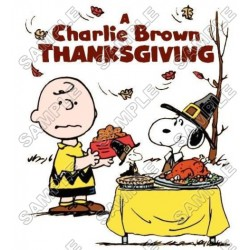 Peanuts, Snoopy, Charlie Brown Thanksgiving T Shirt Iron on Transfer Decal #59