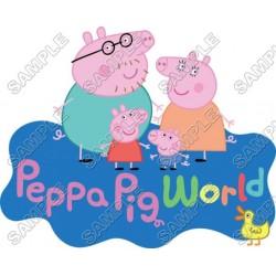 Peppa Pig T Shirt Iron on Transfer Decal #1