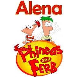 Phineas and Ferb Personalized Custom T Shirt Iron on Transfer Decal #116