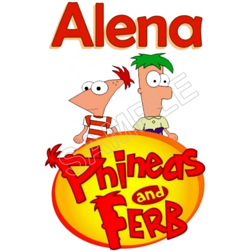 Phineas and Ferb Personalized Custom T Shirt Iron on Transfer Decal #116 by www.shopironons.com