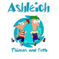 Phineas and Ferb Personalized Custom T Shirt Iron on Transfer Decal #117