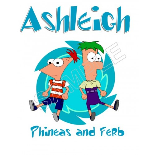 Phineas and Ferb Personalized Custom T Shirt Iron on Transfer Decal #117 by www.shopironons.com