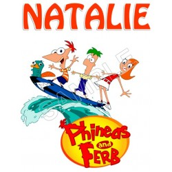 Phineas and Ferb Personalized Custom T Shirt Iron on Transfer Decal #60
