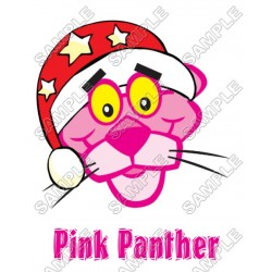 Pink Panther Christmas Santa T Shirt Iron on Transfer Decal #6