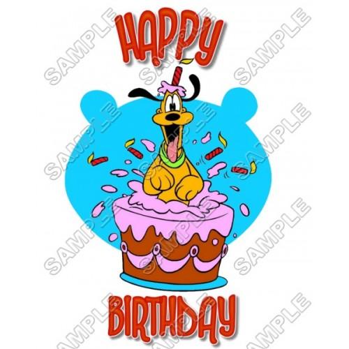 Pluto Birthday T Shirt Iron on Transfer Decal #5 by www.shopironons.com
