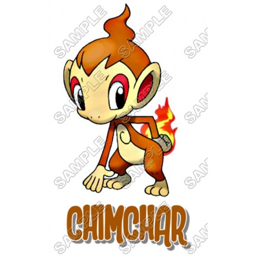 Pokemon Chimchar T Shirt Iron on Transfer Decal #4 by www.shopironons.com