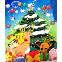 Pokemon Christmas T Shirt Iron on Transfer Decal #30