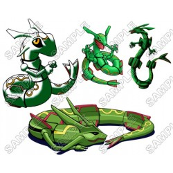 Pokemon Rayquaza T Shirt Iron on Transfer Decal #18