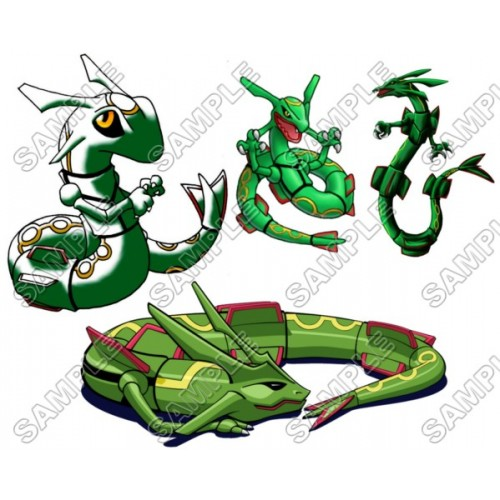Pokemon Rayquaza T Shirt Iron on Transfer Decal #18 by www.shopironons.com