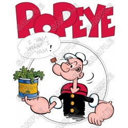 Popeye T Shirt Iron on Transfer Decal #10