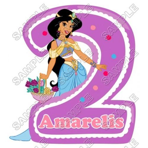 Princess Jasmine Birthday Personalized Custom T Shirt Iron on Transfer Decal #10 by www.shopironons.com