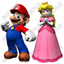Princess Peach Super Mario T Shirt Iron on Transfer Decal #1