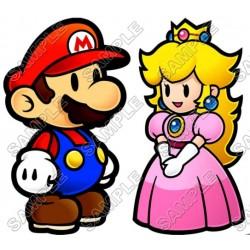 Princess Peach Super Mario T Shirt Iron on Transfer Decal #2