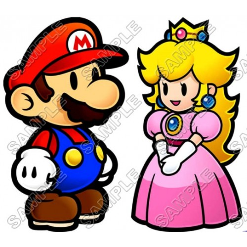 Princess Peach Super Mario T Shirt Iron on Transfer Decal #2 by www.shopironons.com