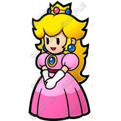 Princess Peach Super Mario T Shirt Iron on Transfer Decal #3