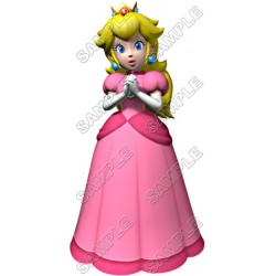 Princess Peach Super Mario T Shirt Iron on Transfer Decal #4