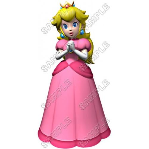 Princess Peach Super Mario T Shirt Iron on Transfer Decal #4 by www.shopironons.com