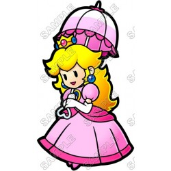 Princess Peach Super Mario T Shirt Iron on Transfer Decal #5
