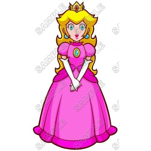 Princess Peach Super Mario T Shirt Iron on Transfer Decal #7 by www.shopironons.com