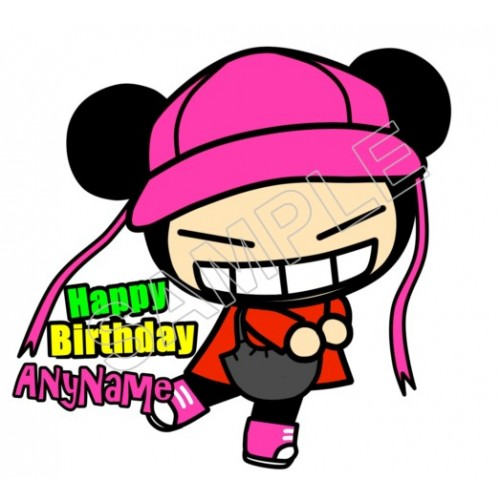 Pucca Birthday Personalized Custom T Shirt Iron on Transfer Decal #106 by www.shopironons.com