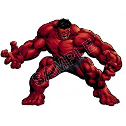 Red Hulk T Shirt Iron on Transfer Decal #1