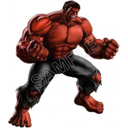 Red Hulk T Shirt Iron on Transfer Decal #2